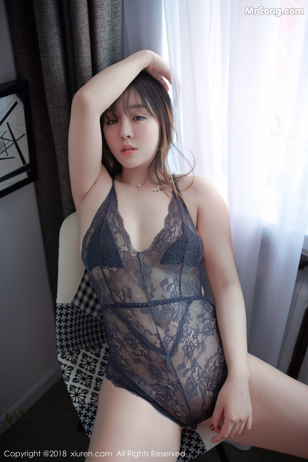 Image XIUREN-No.1252-Wang-Yu-Chun-MrCong.com-008 in post XIUREN No.1252: Người mẫu Wang Yu Chun (王雨纯) (49 ảnh)