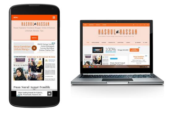 Tukar template blogspot untuk dapatkan blog mesra mobile optima