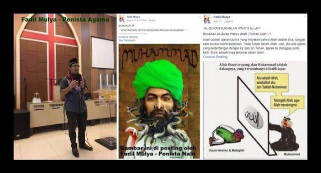 Dicari : Fadilah (Fadil Mulya) dan Gerejanya yang Menghina, Memfitnah dan Menista Islam!!!