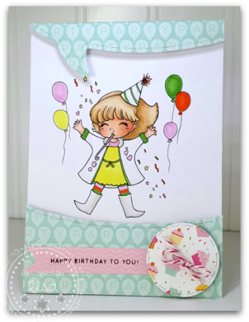 Created In the Crafting Cave with Lisa using Lemon Shortbread image Party Celebration