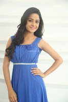 Divya Nandini stunning Beauty in blue Dress at Trendz Exhibition Launch ~  Celebrities Galleries 046.JPG