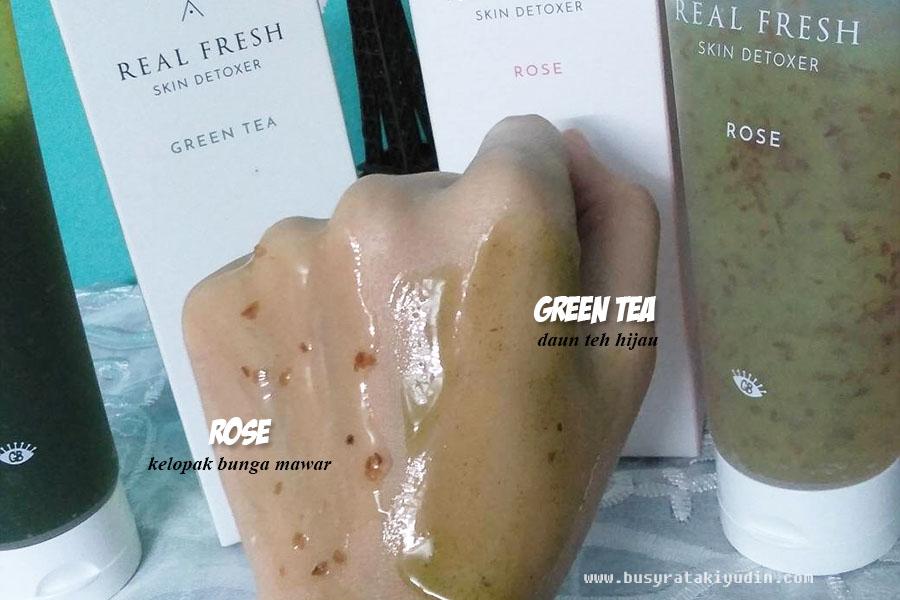 real fresh skin detoxer, mask rose, mask green tea, cleanser, mask 10 saat, althea, get it beauty,
