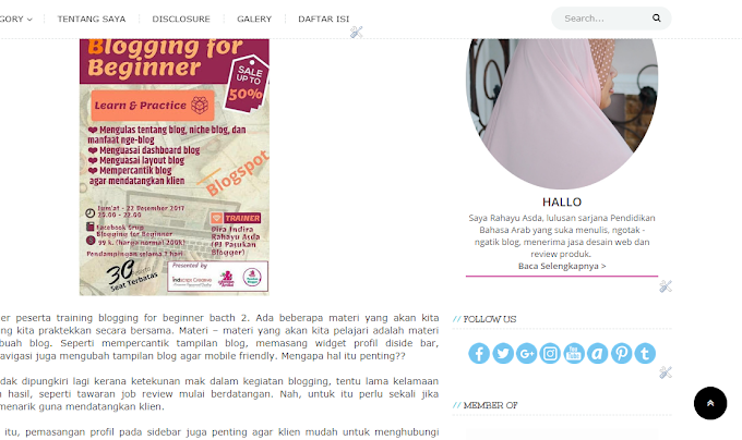 Tutorial Memasang Widget Media Sosial di blog