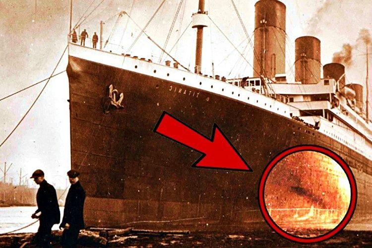 Gazateci Senan, Titanik'in gövdesinde yangından oluşmuş 9 metre büyüklüğünde siyah bir leke tespit etti.