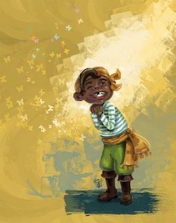 Bratford, the brother, character art for a picture book project by Traci Van Wagoner