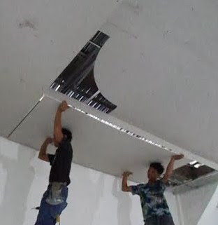 Hasil gambar untuk cara pasang plafon gypsum
