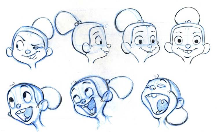 how to draw masha and the bear facial expressions