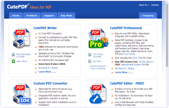 Cutepdfeditor.com online PDF text editor