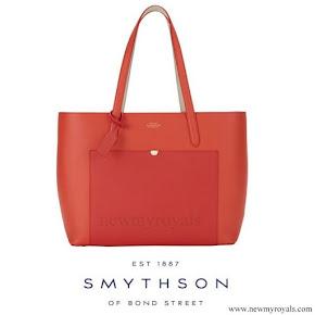 Countess Sophie carried Smythson Panama Tote