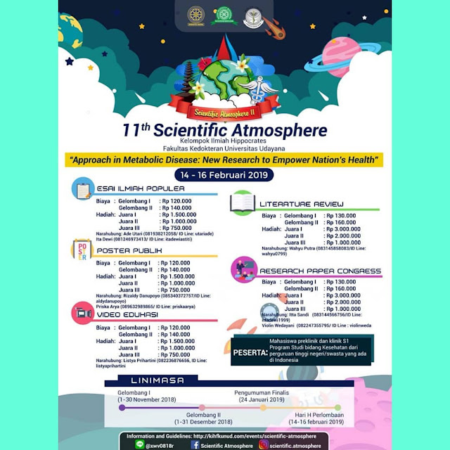 Event 11th Scientific Atmosphere 2018 Mahasiswa