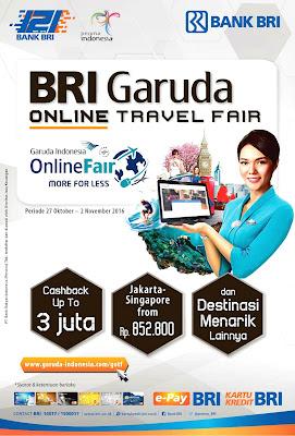 Jadwal BRI Garuda Online Travel Fair Oktober 2016