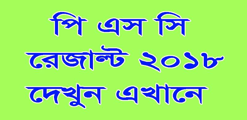 PSC Result 2018 by dpe.gov.bd