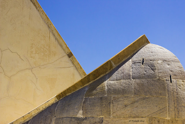 A Minimalist Photo of Geometry at an old heritage astronomical site Jantar Mantar in Jaipur.