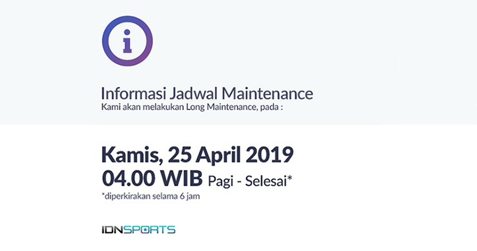 Jadwal Maintenance