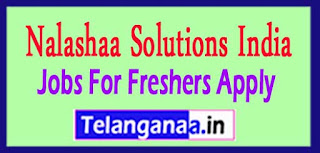 Nalashaa Solutions India Pvt. Ltd Recruitment 2017 Jobs For Freshers Apply