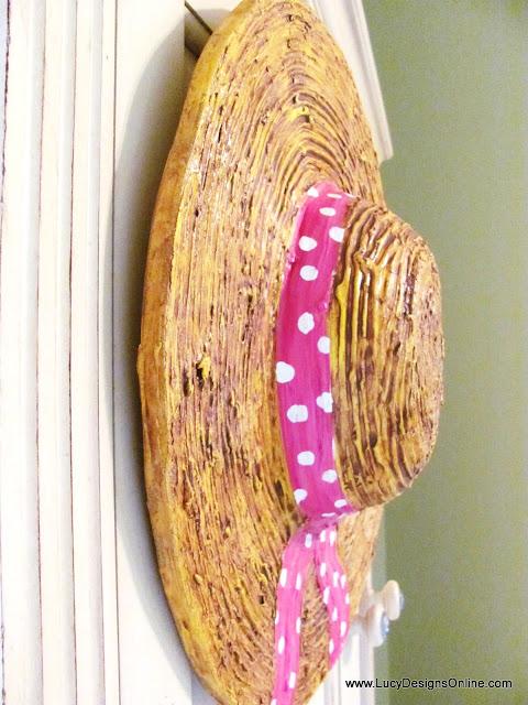 dimensional straw hat sculpture DIY