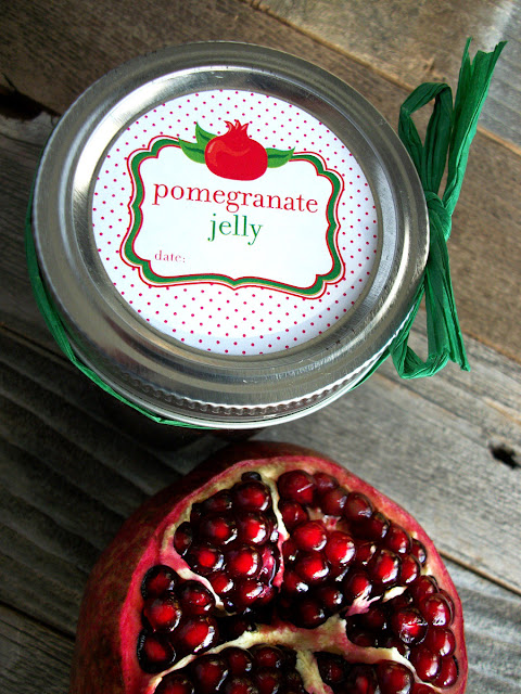 Cute Pomegranate Jelly Canning Jar Labels