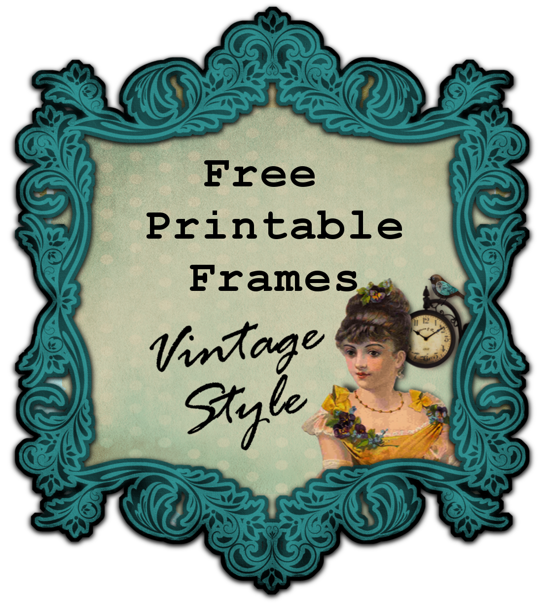 Sizzling image within printable picture frames