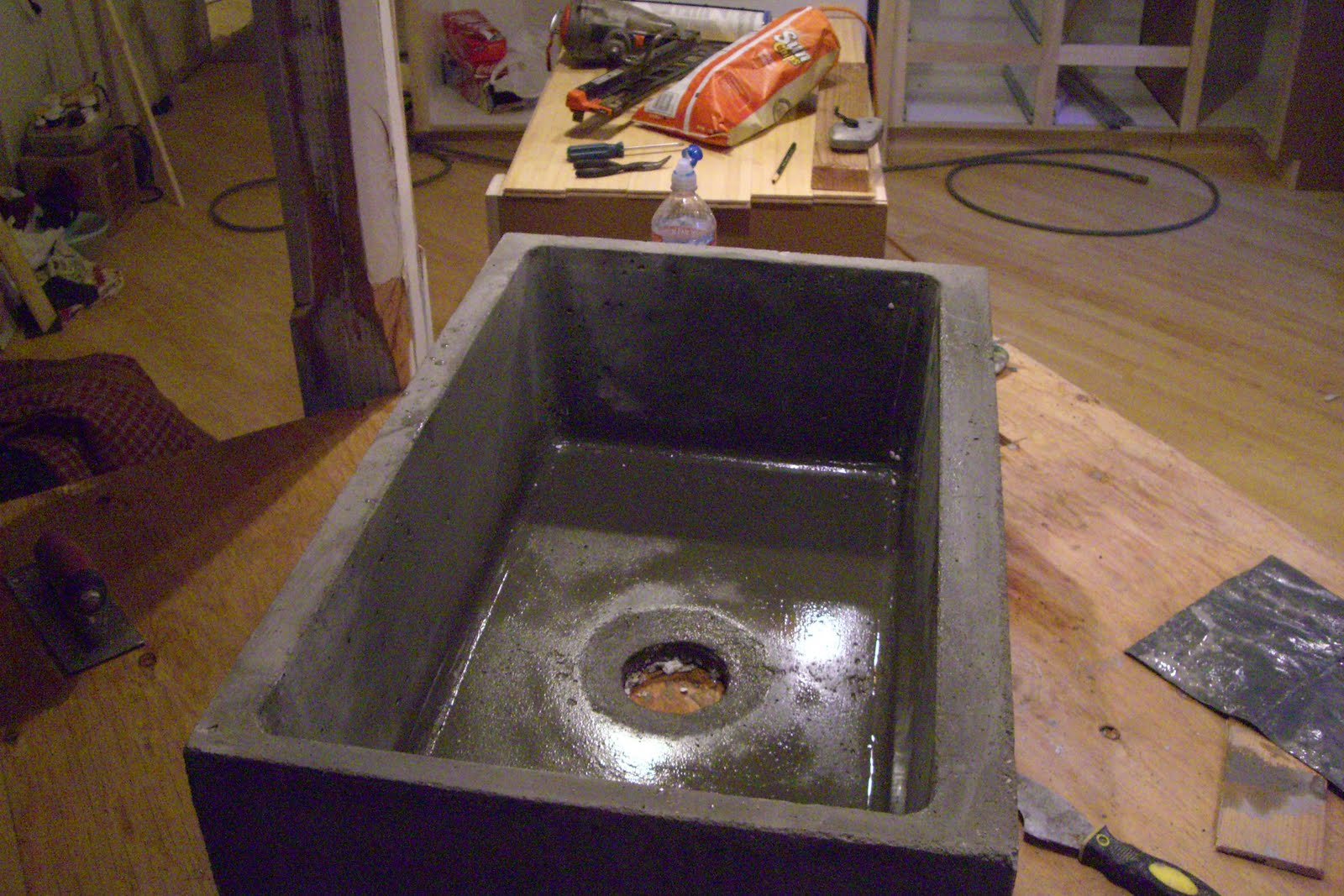 Concrete Countertop Edge Molds Concrete Countertops Large Farm Sink Just Out Of The Mold