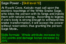 naruto castle defense 6.3 Sage Kabuto Sage Power detail