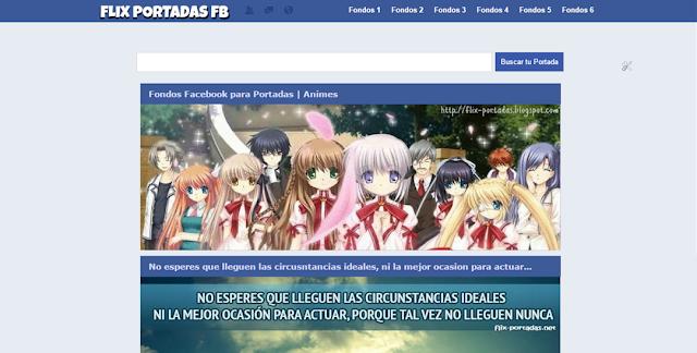 Template Blogger Portadas Facebok Gratis