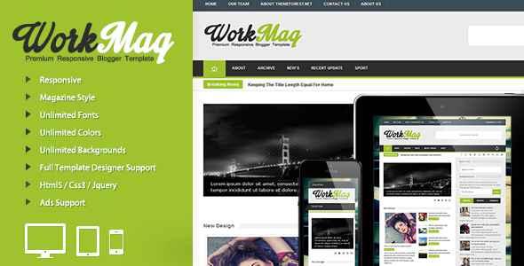Template Blogger Premium WorkMag