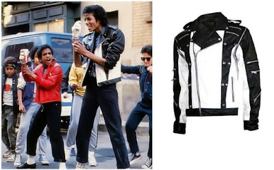 Gambar Jaket Kulit MJ Hitam Putih