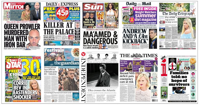 front pages 21-05-16