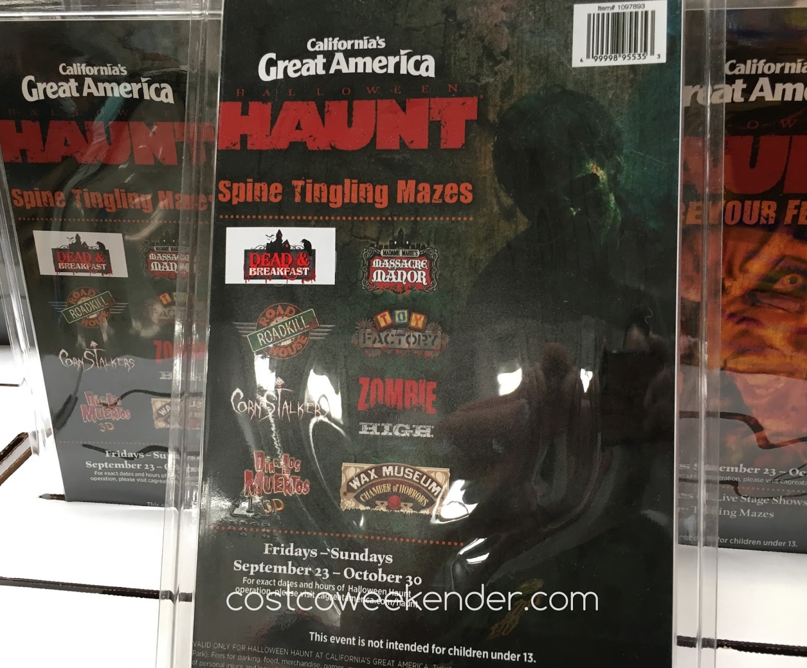 Costco 1097893 - Great America's Halloween Haunt: fun, safe, and scary
