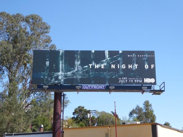 The Night Of series launch billboard