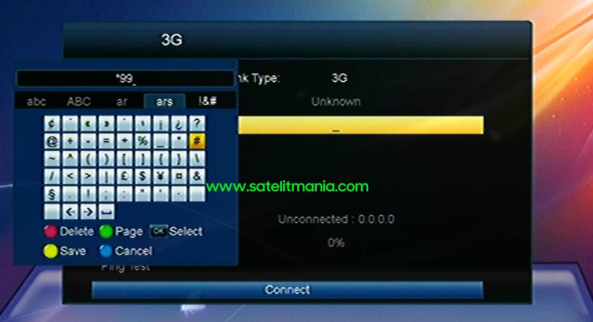 Dial Number Telkomsel di Receiver Skybox A1