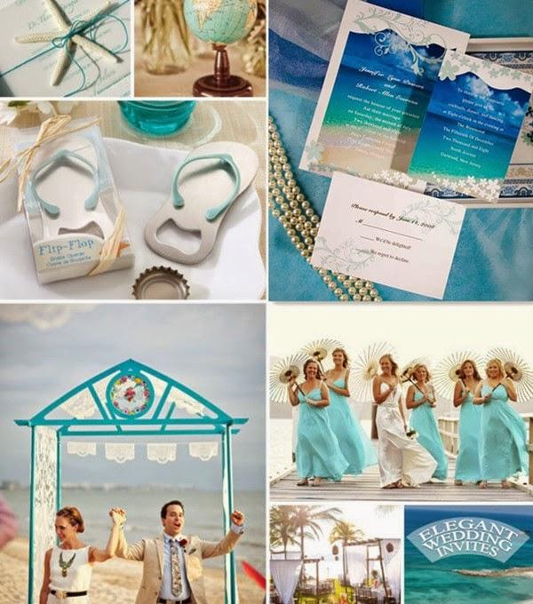 Unique Beach Wedding Ideas: Wedding Fashion: 5 Most Pouplar Wedding Theme Color Palette
