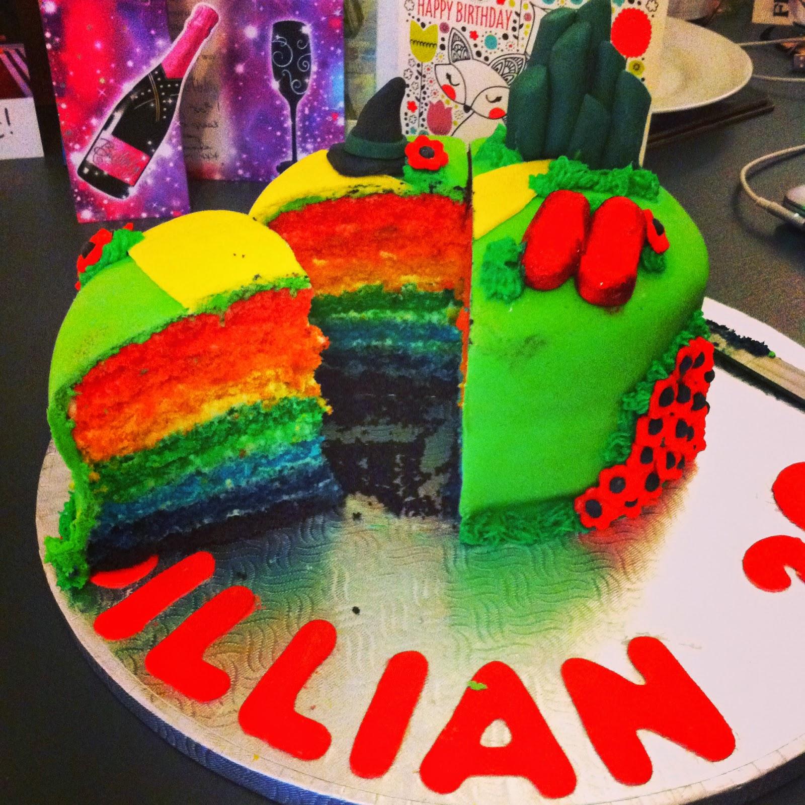 Jennifer Bakes Wizard Of Oz Rainbow Cake