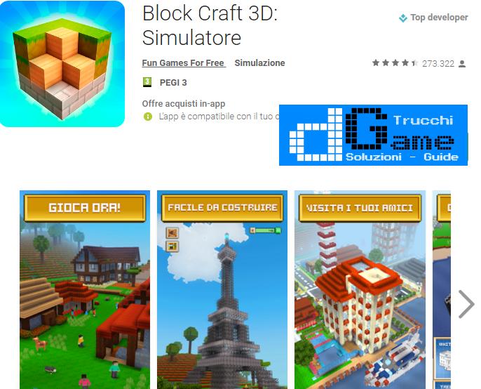 Trucchi Block Craft 3D: Simulatore Mod Apk Android v1.4