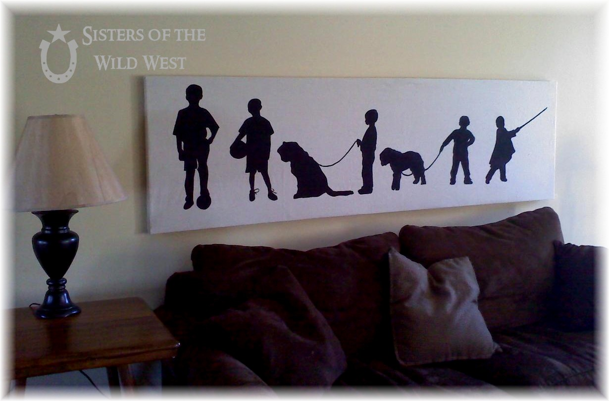 Personalized Wall Art Tutorial On Making Action Silhouettes Of Your Family