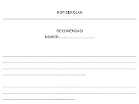 Format Rekomendasi pada Administrasi Tata Usaha Sekolah (TU)