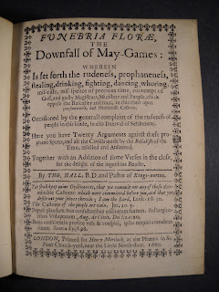 "A title page for ""Funebria Florae."""