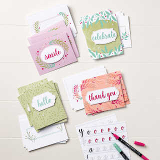 Stampin' Up! Calliography Essentials stamp set, 2018-2019 Annual Catalog