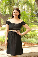 Mannara Chopra in Short Off Shoulder Black Dress ~  Exclusive 056.JPG