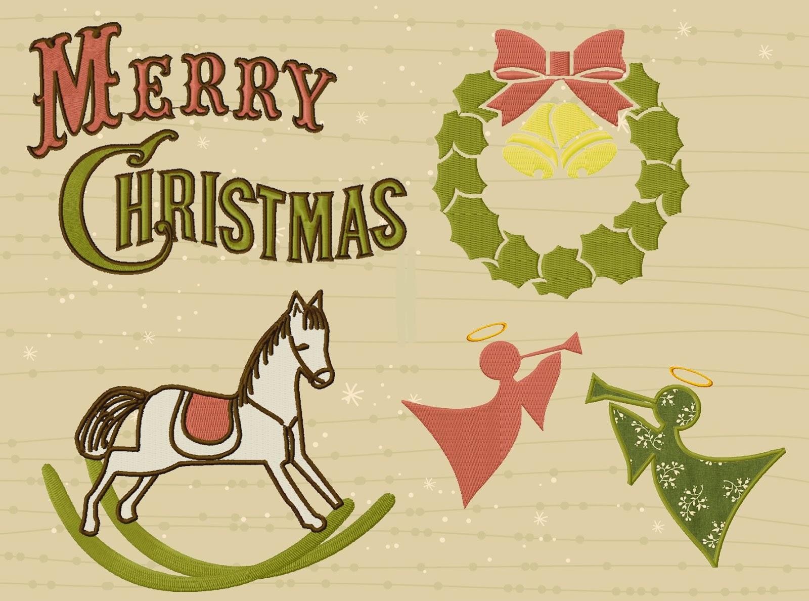 Nostalgische Weihnachtsmotive.Finandfancy Stickdateien Embroidery Designs Neue Weihnachtsmotive