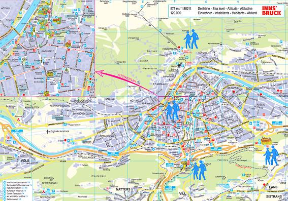 Plano general de Innsbruck, la capital del Tirol