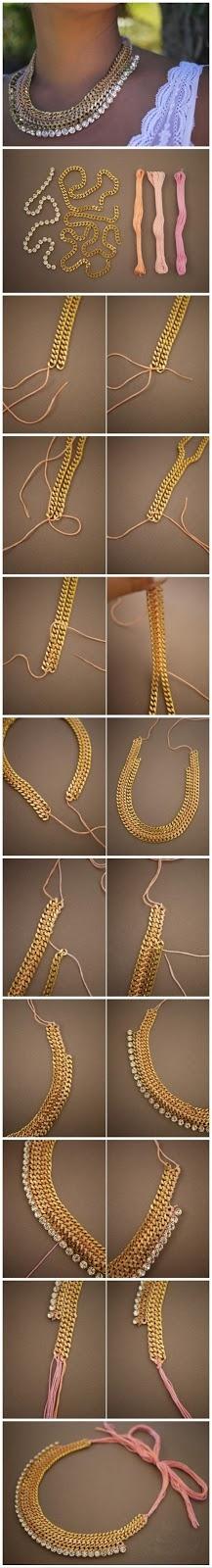 DIY tutorial necklaces
