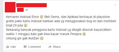 Indosat Error, Bisa Beli Gratis di Play Store