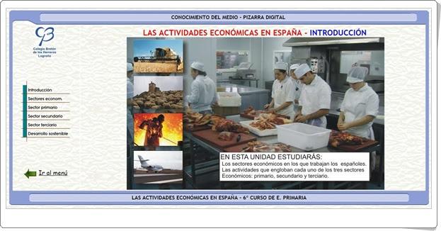 LAS ACTIVIDADES ECONÓMICAS EN ESPAÑA (Aplicación interactiva de Ciencias Sociales de Primaria)