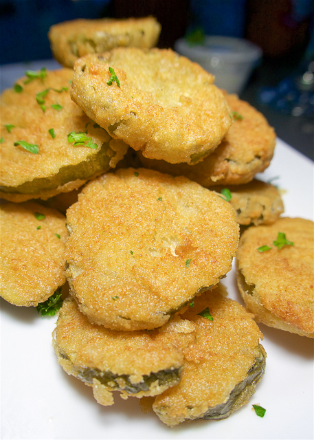 Fried Pickels at Sliders in Amelia Island, FL