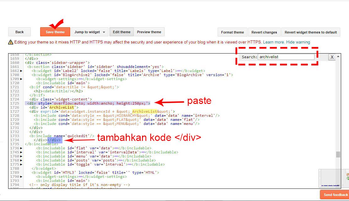 cara menambahkan efek slider pada arsip blog