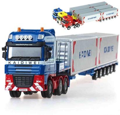 miniatur truk gandeng kontainer panjang