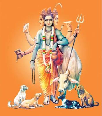 Dattaguru-giving-blessing-to shraddhawan-Dattajayanti-utsav-aniruddha-bapu