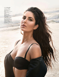 Katrina Kaif in a Suit By Paul Smith Lingerie By MYLA and Shirt By Ralph Lauren Stunning Pics