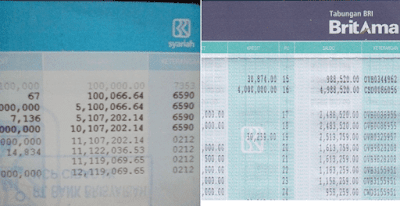 contoh mutasi rekening bri melalu print buku tabungan